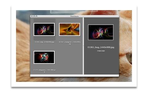 THCanvasView のデモアプリ「PhotoStacks」のスクリーンショット